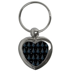 Christmas Tree   Pattern Key Chains (heart)  by Valentinaart