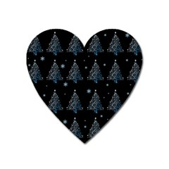 Christmas Tree   Pattern Heart Magnet