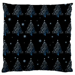 Christmas Tree   Pattern Large Cushion Case (two Sides)