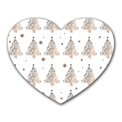 Christmas Tree   Pattern Heart Mousepads by Valentinaart