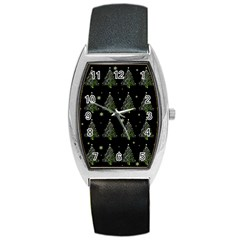 Christmas Tree   Pattern Barrel Style Metal Watch by Valentinaart