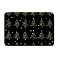 Christmas Tree   Pattern Small Doormat  by Valentinaart