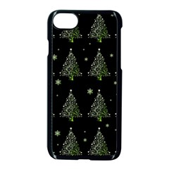 Christmas Tree   Pattern Apple Iphone 7 Seamless Case (black)