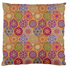 Bohemian Pattern Eye Orange Large Cushion Case (one Side) by Cveti