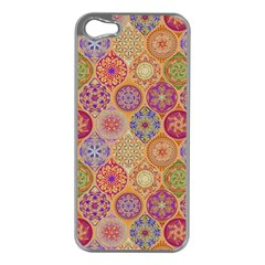 Bohemian Pattern Eye Orange Apple Iphone 5 Case (silver) by Cveti