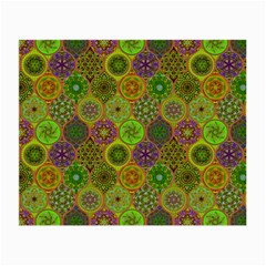 Bohemian Hand Drawing Patterns Green 01 Small Glasses Cloth by Cveti