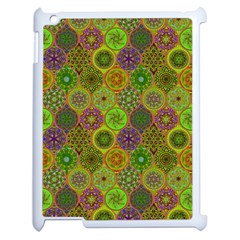 Bohemian Hand Drawing Patterns Green 01 Apple Ipad 2 Case (white) by Cveti