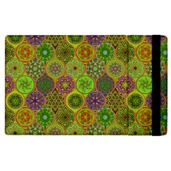 Bohemian Hand Drawing Patterns Green 01 Apple Ipad 3/4 Flip Case by Cveti