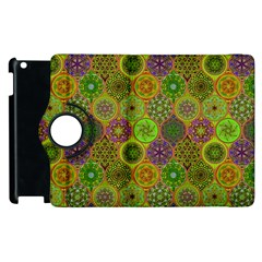 Bohemian Hand Drawing Patterns Green 01 Apple Ipad 3/4 Flip 360 Case by Cveti