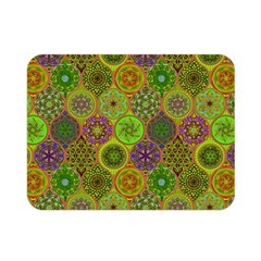 Bohemian Hand Drawing Patterns Green 01 Double Sided Flano Blanket (mini)  by Cveti