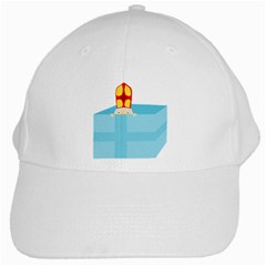 Funny Cute Kids Art St  Nicholas St White Baseball Cap by yoursparklingshop