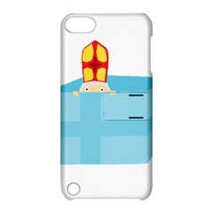 Funny Cute Kids Art St Nicholas St  Nick Sinterklaas Hiding In A Gift Box Apple Ipod Touch 5 Hardshell Case With Stand by yoursparklingshop