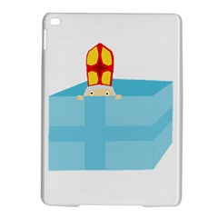 Funny Cute Kids Art St Nicholas St  Nick Sinterklaas Hiding In A Gift Box Ipad Air 2 Hardshell Cases by yoursparklingshop
