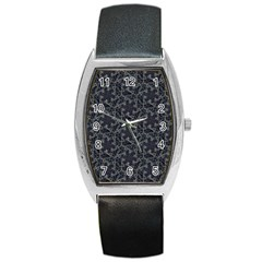 Whirligig Pattern Hand Drawing Grey Barrel Style Metal Watch by Cveti