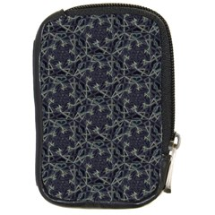 Whirligig Pattern Hand Drawing Grey Compact Camera Cases by Cveti