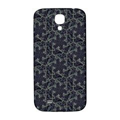 Whirligig Pattern Hand Drawing Grey Samsung Galaxy S4 I9500/i9505  Hardshell Back Case by Cveti