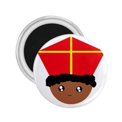 Cutieful Kids Art Funny Zwarte Piet Friend Of St  Nicholas Wearing His Miter 2 25  Magnets by yoursparklingshop