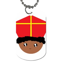 Cutieful Kids Art Funny Zwarte Piet Friend Of St  Nicholas Wearing His Miter Dog Tag (one Side) by yoursparklingshop