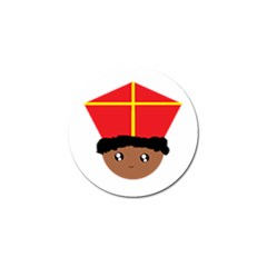 Cutieful Kids Art Funny Zwarte Piet Friend Of St  Nicholas Wearing His Miter Golf Ball Marker (4 Pack) by yoursparklingshop