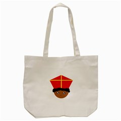 Cutieful Kids Art Funny Zwarte Piet Friend Of St  Nicholas Wearing His Miter Tote Bag (cream) by yoursparklingshop