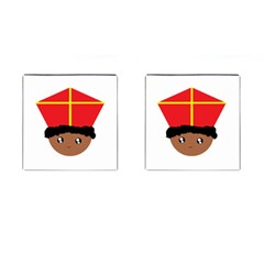 Cutieful Kids Art Funny Zwarte Piet Friend Of St  Nicholas Wearing His Miter Cufflinks (square) by yoursparklingshop