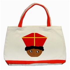 Cutieful Kids Art Funny Zwarte Piet Friend Of St  Nicholas Wearing His Miter Classic Tote Bag (red) by yoursparklingshop