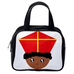 Cutieful Kids Art Funny Zwarte Piet Friend of St  Nicholas wearing his Miter Classic Handbags (One Side) Front