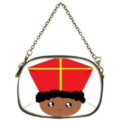 Cutieful Kids Art Funny Zwarte Piet Friend Of St  Nicholas Wearing His Miter Chain Purses (one Side)  by yoursparklingshop