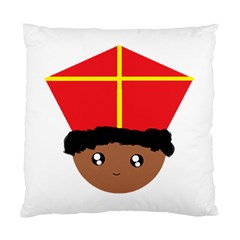 Cutieful Kids Art Funny Zwarte Piet Friend Of St  Nicholas Wearing His Miter Standard Cushion Case (two Sides) by yoursparklingshop
