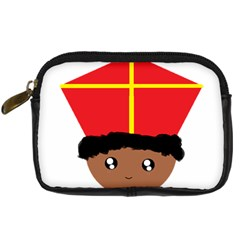 Cutieful Kids Art Funny Zwarte Piet Friend Of St  Nicholas Wearing His Miter Digital Camera Cases by yoursparklingshop