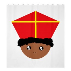 Cutieful Kids Art Funny Zwarte Piet Friend Of St  Nicholas Wearing His Miter Shower Curtain 66  X 72  (large)  by yoursparklingshop
