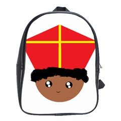 Cutieful Kids Art Funny Zwarte Piet Friend Of St  Nicholas Wearing His Miter School Bag (large)