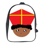 Cutieful Kids Art Funny Zwarte Piet Friend of St  Nicholas wearing his Miter School Bag (Large) Front