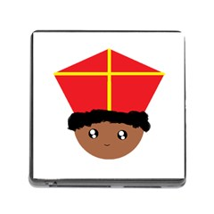 Cutieful Kids Art Funny Zwarte Piet Friend Of St  Nicholas Wearing His Miter Memory Card Reader (square) by yoursparklingshop