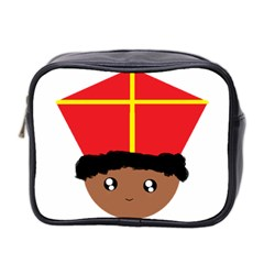 Cutieful Kids Art Funny Zwarte Piet Friend Of St  Nicholas Wearing His Miter Mini Toiletries Bag 2-side by yoursparklingshop