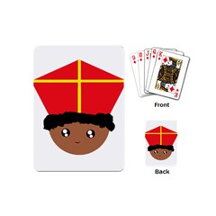 Cutieful Kids Art Funny Zwarte Piet Friend Of St  Nicholas Wearing His Miter Playing Cards (mini)  by yoursparklingshop