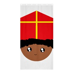 Cutieful Kids Art Funny Zwarte Piet Friend Of St  Nicholas Wearing His Miter Shower Curtain 36  X 72  (stall)  by yoursparklingshop