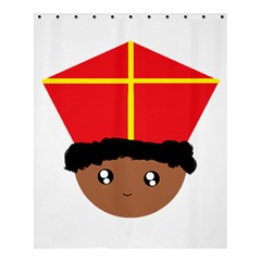 Cutieful Kids Art Funny Zwarte Piet Friend Of St  Nicholas Wearing His Miter Shower Curtain 60  X 72  (medium)  by yoursparklingshop