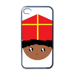 Cutieful Kids Art Funny Zwarte Piet Friend Of St  Nicholas Wearing His Miter Apple Iphone 4 Case (black) by yoursparklingshop