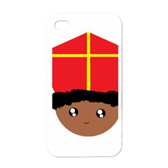 Cutieful Kids Art Funny Zwarte Piet Friend Of St  Nicholas Wearing His Miter Apple Iphone 4 Case (white) by yoursparklingshop