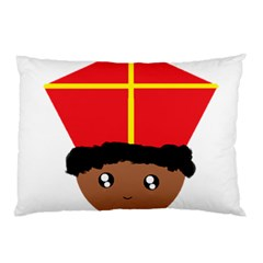 Cutieful Kids Art Funny Zwarte Piet Friend Of St  Nicholas Wearing His Miter Pillow Case (two Sides) by yoursparklingshop