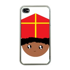 Cutieful Kids Art Funny Zwarte Piet Friend Of St  Nicholas Wearing His Miter Apple Iphone 4 Case (clear) by yoursparklingshop