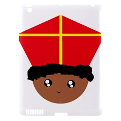 Cutieful Kids Art Funny Zwarte Piet Friend Of St  Nicholas Wearing His Miter Apple Ipad 3/4 Hardshell Case (compatible With Smart Cover) by yoursparklingshop