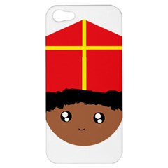 Cutieful Kids Art Funny Zwarte Piet Friend Of St  Nicholas Wearing His Miter Apple Iphone 5 Hardshell Case by yoursparklingshop