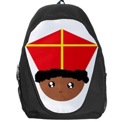 Cutieful Kids Art Funny Zwarte Piet Friend Of St  Nicholas Wearing His Miter Backpack Bag by yoursparklingshop