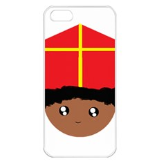 Cutieful Kids Art Funny Zwarte Piet Friend Of St  Nicholas Wearing His Miter Apple Iphone 5 Seamless Case (white) by yoursparklingshop