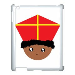 Cutieful Kids Art Funny Zwarte Piet Friend Of St  Nicholas Wearing His Miter Apple Ipad 3/4 Case (white) by yoursparklingshop