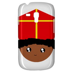 Cutieful Kids Art Funny Zwarte Piet Friend Of St  Nicholas Wearing His Miter Galaxy S3 Mini by yoursparklingshop
