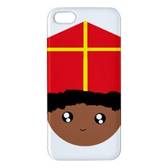Cutieful Kids Art Funny Zwarte Piet Friend Of St  Nicholas Wearing His Miter Apple Iphone 5 Premium Hardshell Case by yoursparklingshop