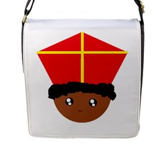 Cutieful Kids Art Funny Zwarte Piet Friend Of St  Nicholas Wearing His Miter Flap Messenger Bag (l)  by yoursparklingshop